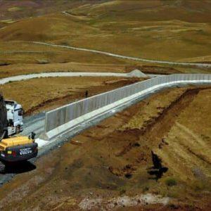 دیوارکشی ترکیه در مرز ایران