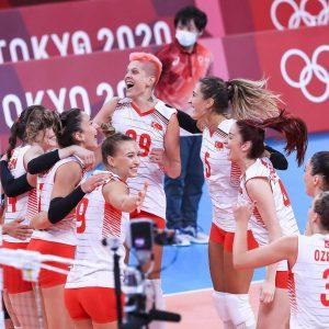 برد تیم والیبال زنان ترکیه در مقابل چین
